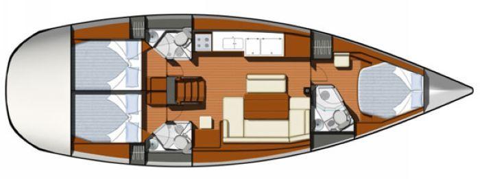 游艇平面图素材